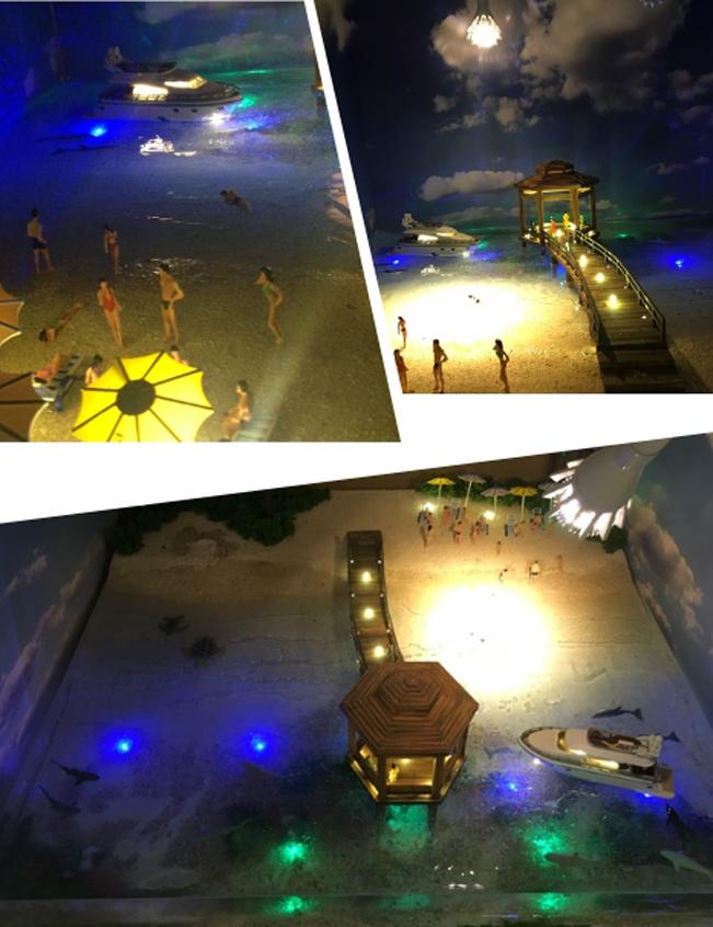 海灘建築模型