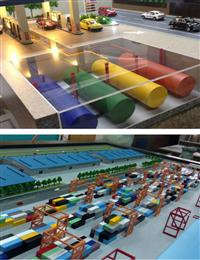 加油站模型、貨櫃模型