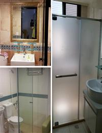 玻璃衛浴隔間、衛浴玻璃門、明鏡