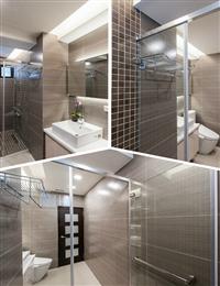 玻璃衛浴隔間、浴室乾濕分離玻璃