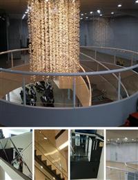 彎曲玻璃、雕刻玻璃、膠合安全玻璃