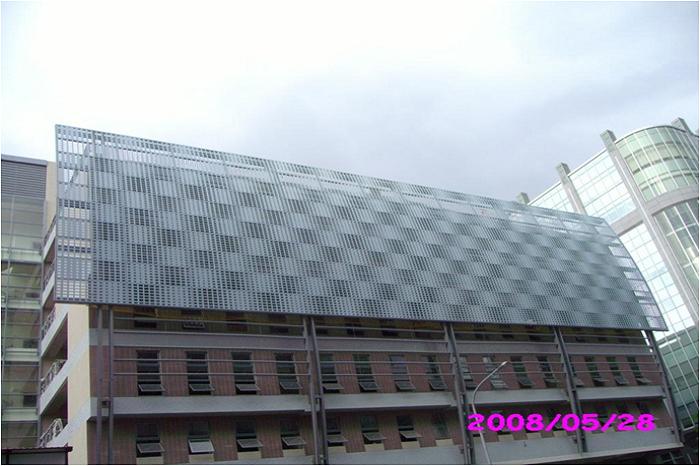 洲子立體停車場 沖孔鋁飾板