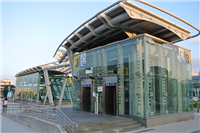 松山機場捷運站 鋁複合板雨庇及外牆帷幕