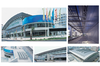 五股工商展覽中心 天窗、鋁遮陽板、鋁蜂巢板、鋁帷幕