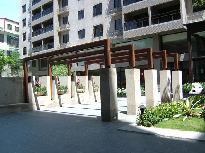 H型鋼南方松木花架