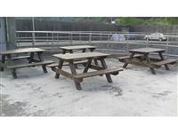 南方松木野餐桌