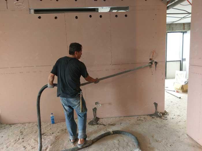濕式灌漿隔間工程