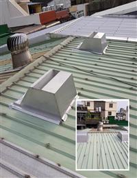 屋頂自然通風散熱器、廚房悶熱改善