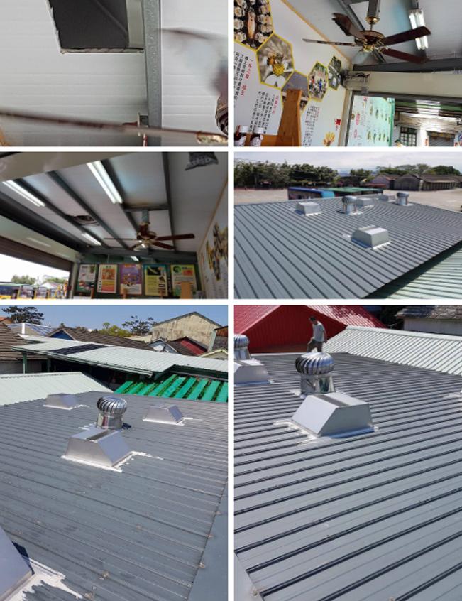 屋頂自然通風散熱器、不銹鐵皮屋悶熱處理