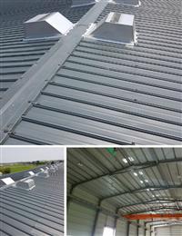 鐵皮屋降溫通風、自然通風散熱器施工