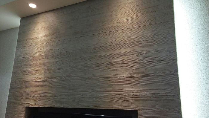 居家後製木紋清水模
