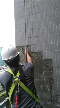 大樓外牆磁磚修補