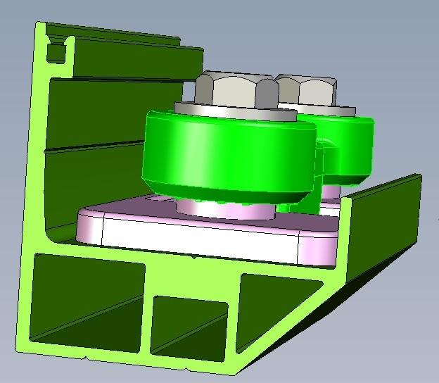 隱形鐵窗3D立體零件示意圖
