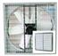 54吋四角負壓式風扇-網孔25mm(含百葉窗)