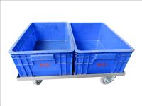 物流台車(小塑膠籃x2)