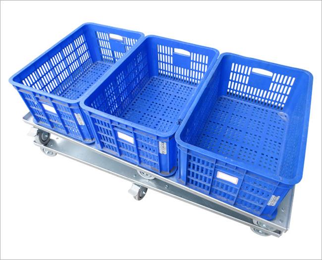 物流台車(大塑膠籃x3)