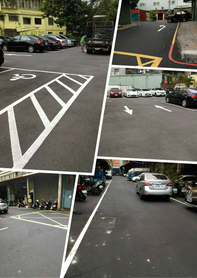 停車場標線工程、停車場劃線工程