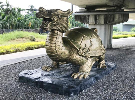 FRP藝術雕塑-龍龜