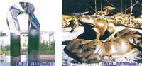 中庭景觀雕塑、公共藝術施工、開放空間金屬特殊造型