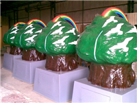 卡通植物造型FRP雕塑