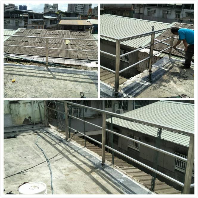 屋頂白鐵欄杆施作