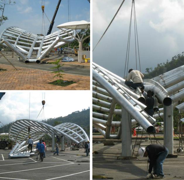 3D造型圓鋼管膜結構