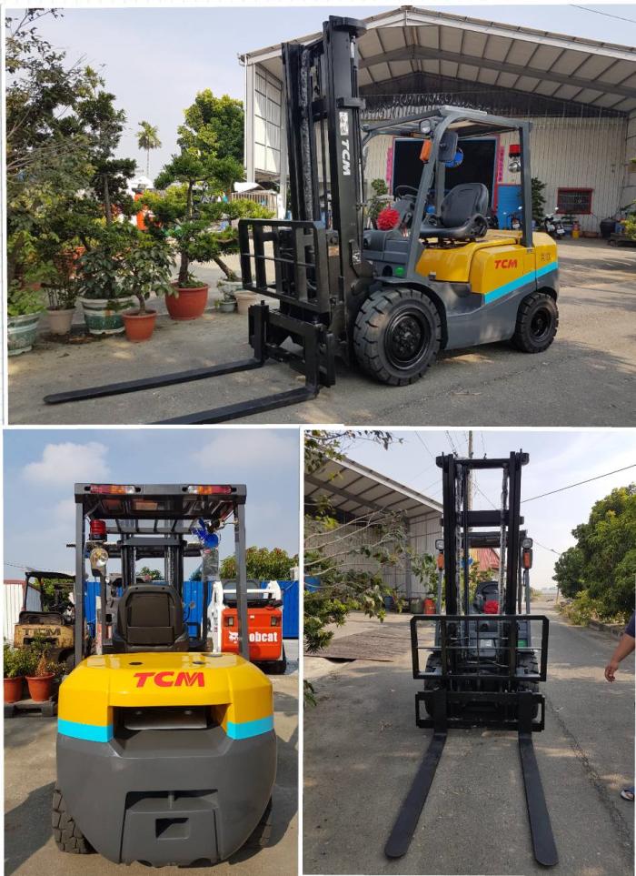 日本外匯全新TCM 3噸二節4米翻牙/自排堆高機