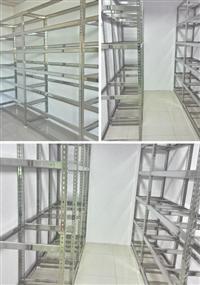 免螺絲角鋼物料架(不鏽鋼)、免螺絲角鋼組合架