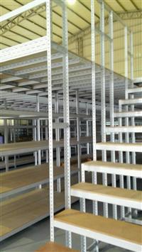 積層式角鋼物料架、 積層物料架