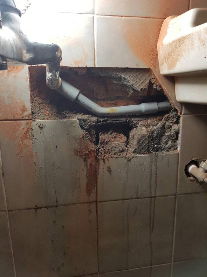 浴室防漏配管