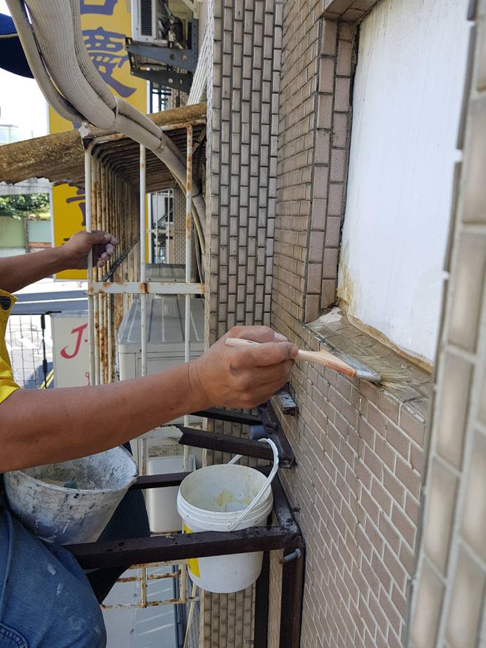 冷氣孔外牆防水粉刷