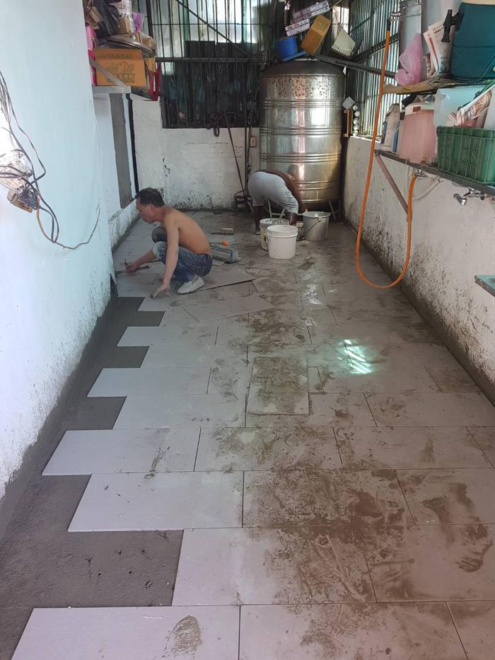 泥作貼磚工程