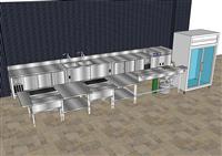 大廚房設備3D規劃
