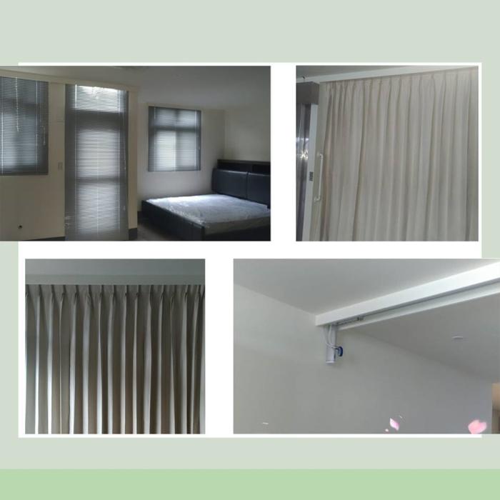 電動軌道、遮光窗簾、百葉窗施工