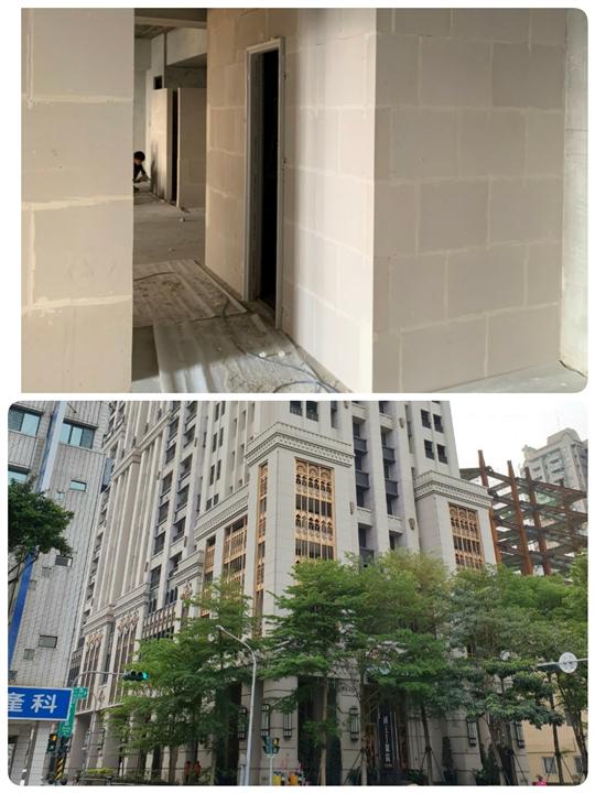 ALC輕質磚造型門柱
