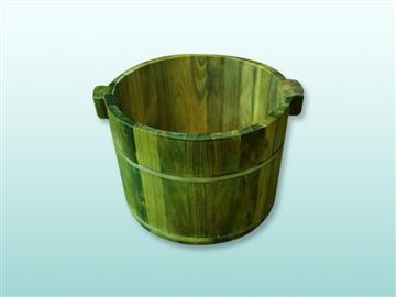 綠檀木泡腳桶