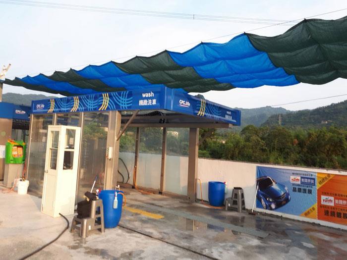 加油站洗車埸遮陰工程
