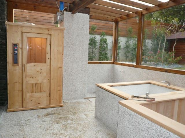 全家溫熱遠紅外線能量屋、原木蒸汽烤箱