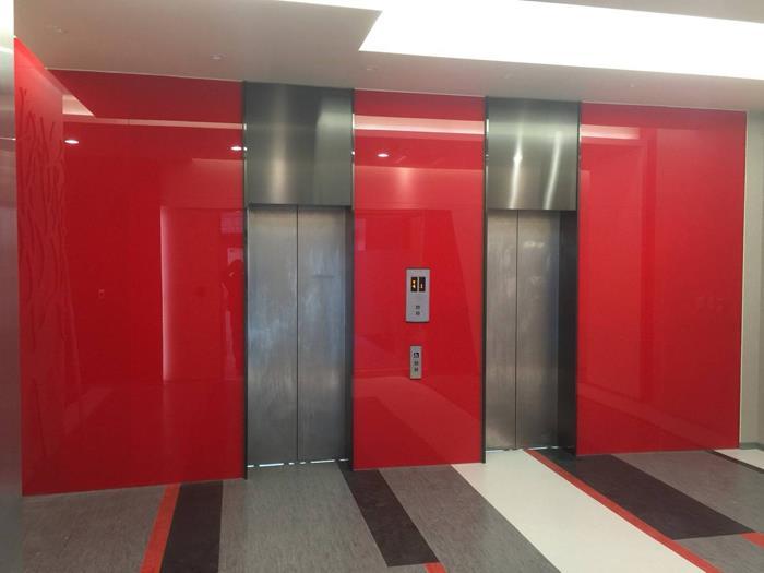 電梯間烤漆玻璃