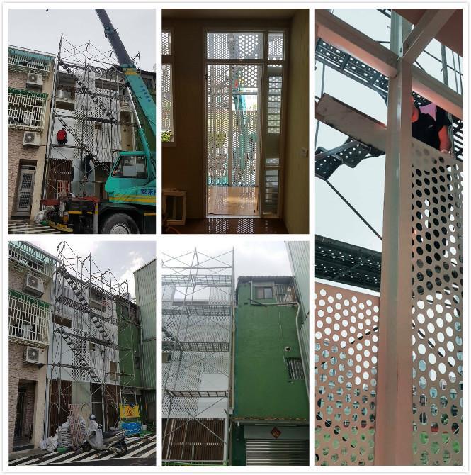 鐵工室外造型牆