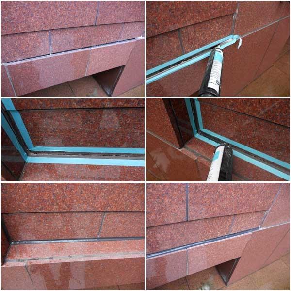 磁磚伸縮縫矽利康填縫