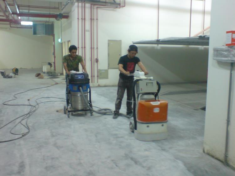 混凝土完成面研磨吸塵