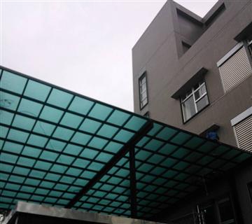 PC採光罩、鋁鋼構玻璃屋工程