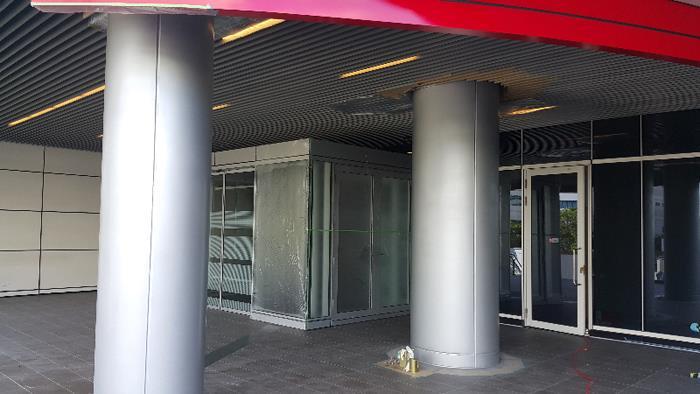 外牆鋼柱噴漆