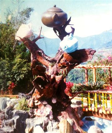 藝術雕塑-仿茶壼造型
