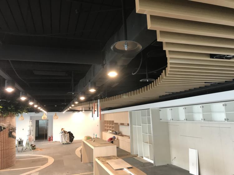 12-鋁障板天花、鋁障板、金屬障板天花.木紋障板
