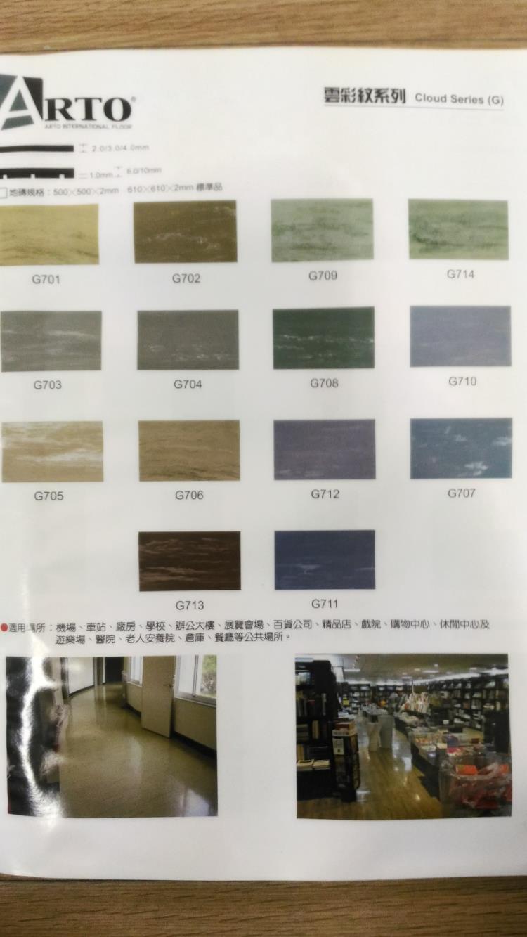 橡膠止滑地墊-雲彩紋系列