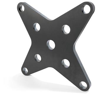 雷射切割加工、黑鐵切割至25mm