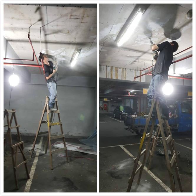 天花板高壓灌注