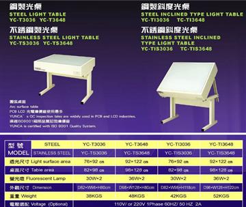 GOODLY鋼製透光桌、檢測桌系列